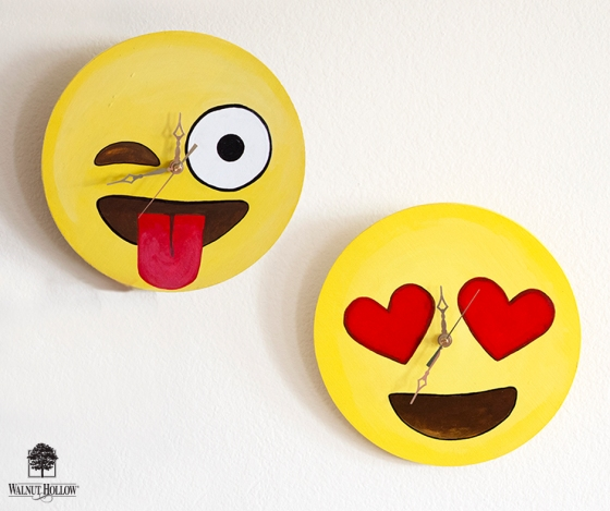DIY Emoji Wall Clocks