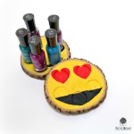 Emoji Nail Polish Holders by Dana Tatar for Walnut Hollow