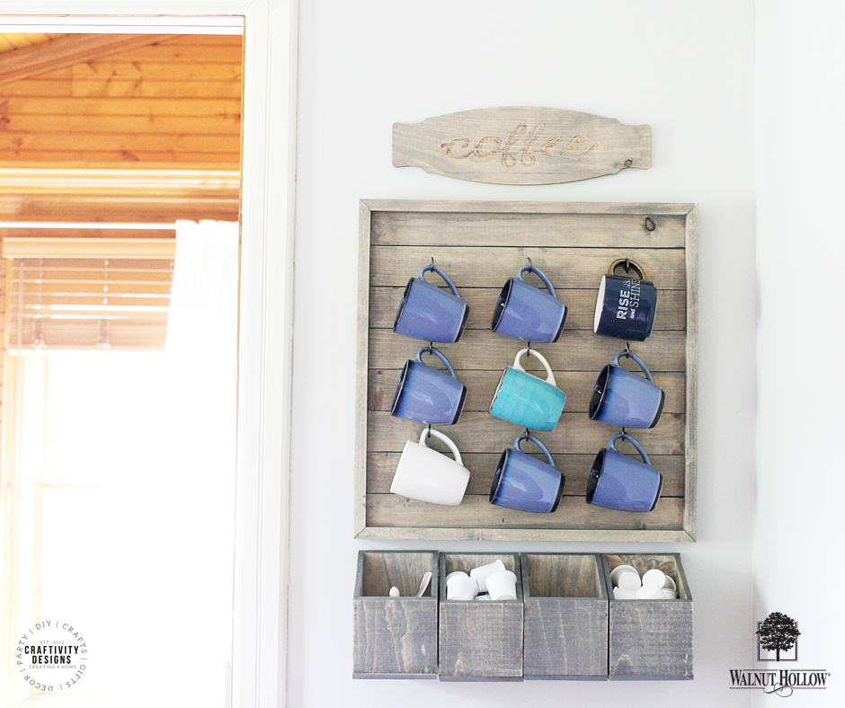 How To Make A Wall Mounted Coffee Bar Walnuthollowcrafts