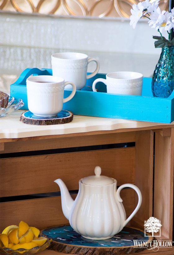 Marbled Tea or Coffee Station