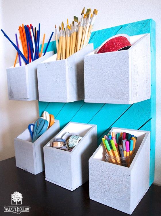 Vertical Craft Storage Bins