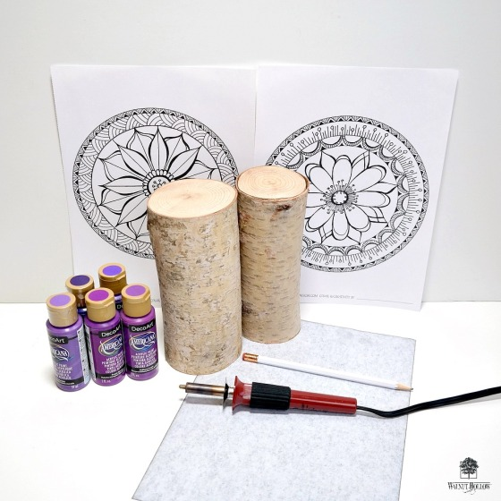 Mandala Candle Pillar Supplies by Dana Tatar