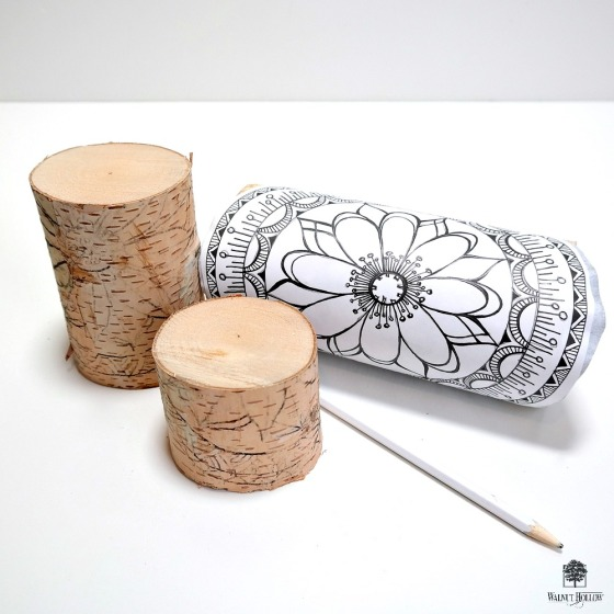 How to Transfer a Mandala Design onto a Birch Pillar by Dana Tatar