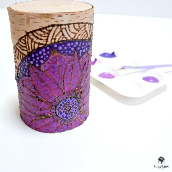 How to Paint a Wood Burned Mandala by Dana Tatar
