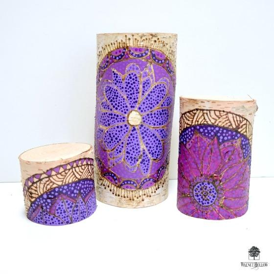 Mandala Candle Pillars by Dana Tatar