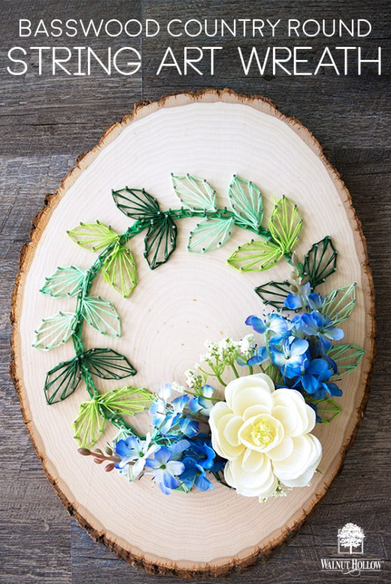 Make a String Art Wreath Pop with actual Flowers embedded in the strings! #stringart