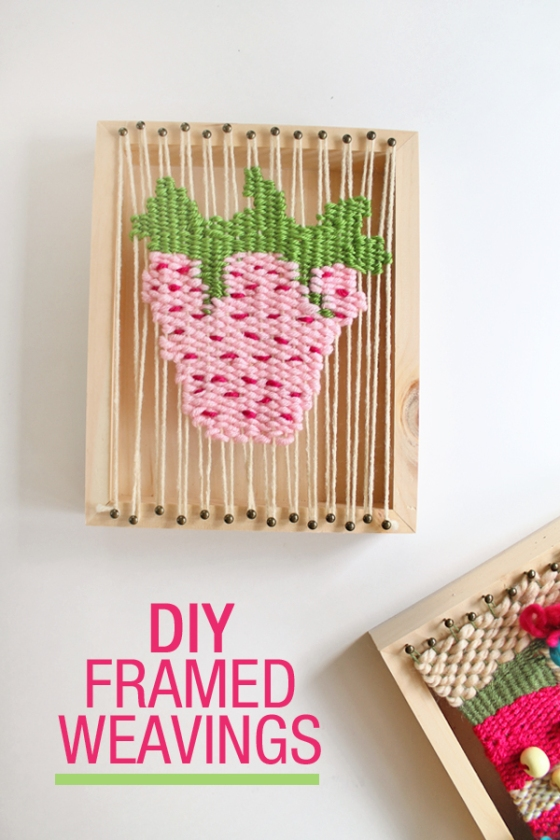 diy framed weaving art with walnut hollow basswood canvas