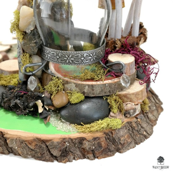 Fairy Garden Centerpiece with Natural Embellishments by Dana Tatar for Walnut Hollow