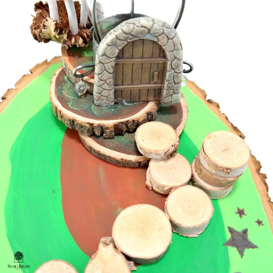 Fairy Garden Wood Slice Base Assembly by Dana Tatar for Walnut Hollow
