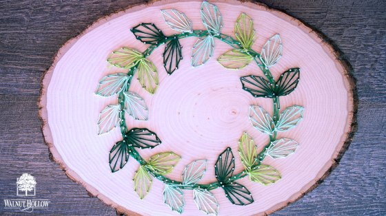 String Art Leaf Wreath