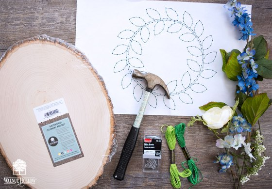 String art wreath supplies