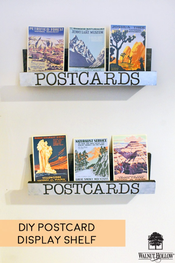 DIY Postcard Display Shelf