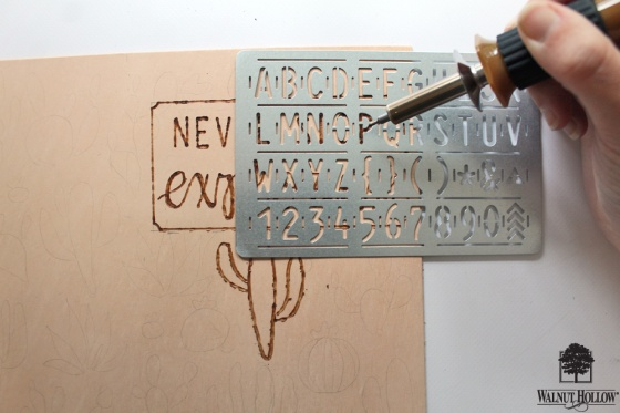 Step 1 for DIY Leather Burned Traveler's Notebook Journal
