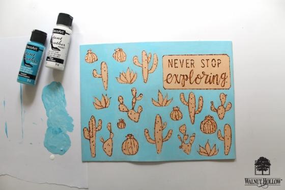 step 3 for DIY Leather Burned Traveler's Notebook Journal