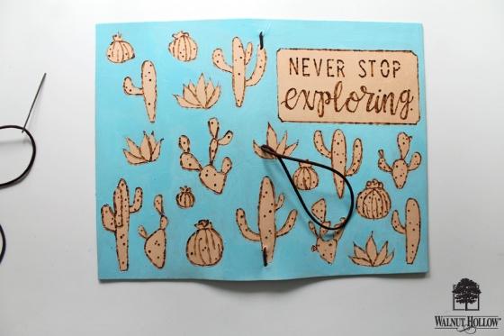 step 5 for DIY Leather Burned Traveler's Notebook Journal