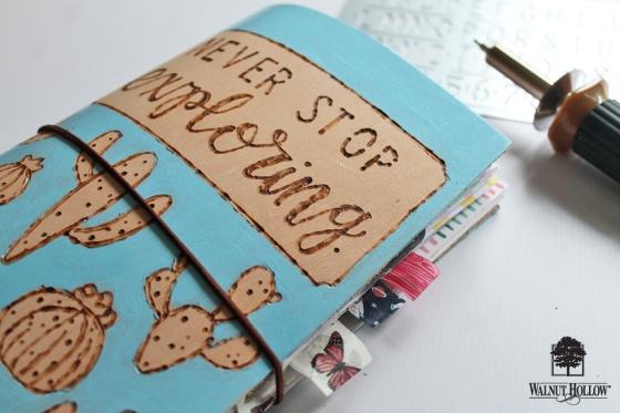 step 6 for DIY Leather Burned Traveler's Notebook Journal