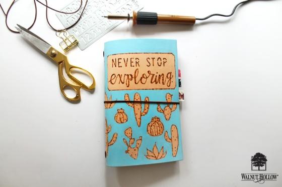 step 7 for DIY Leather Burned Traveler's Notebook Journal