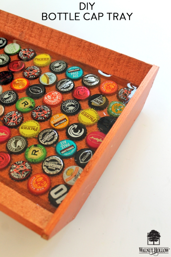 Learn how to DIY your own Beer Bottle Cap Tray!