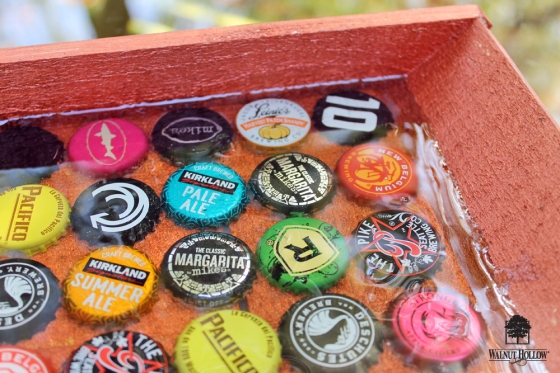 DIY Beer Garden Bottle Cap Tray! By #walnuthollow