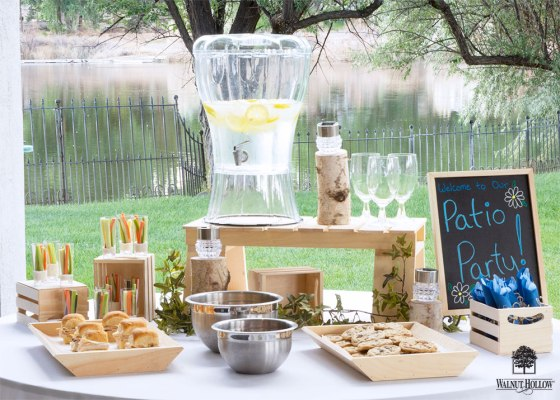 Rustic Patio Party Tables