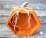 Easy Hexagon Pumpkins with Walnut Hollow #pumpkins