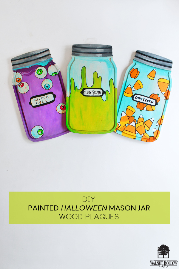 Diy Painted Halloween Mason Jar Wood Plaques Walnuthollowcrafts