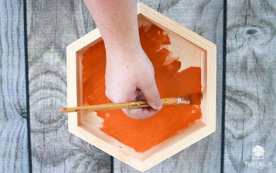 Paint the Hexagon Pumpkins