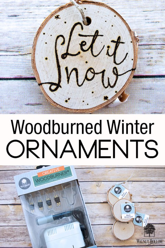 Creative Woodburner Winter Ornaments - Let it Snow