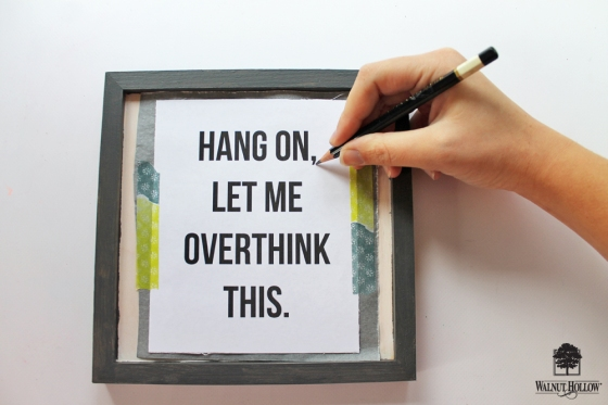 DIY Framed Quote Signs step 2