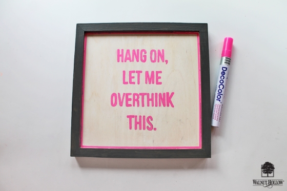 DIY Framed Quote Signs step 3
