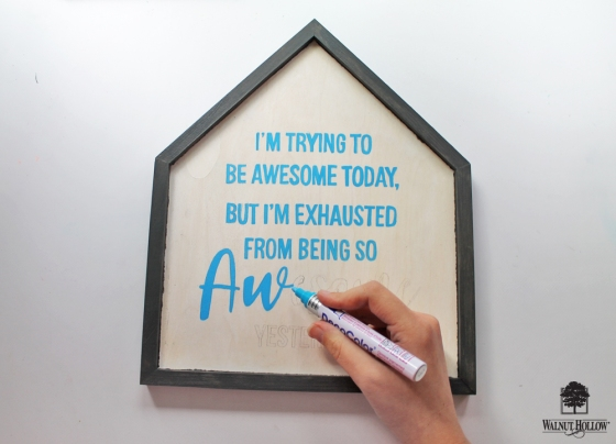 DIY Framed Quote Signs step 4