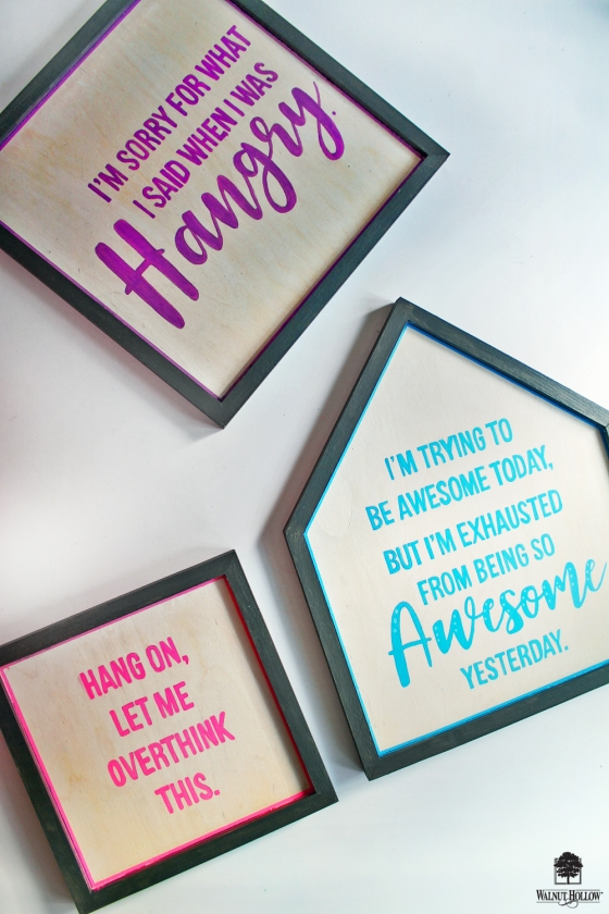 DIY Framed Quote Signs with Walnut Hollow