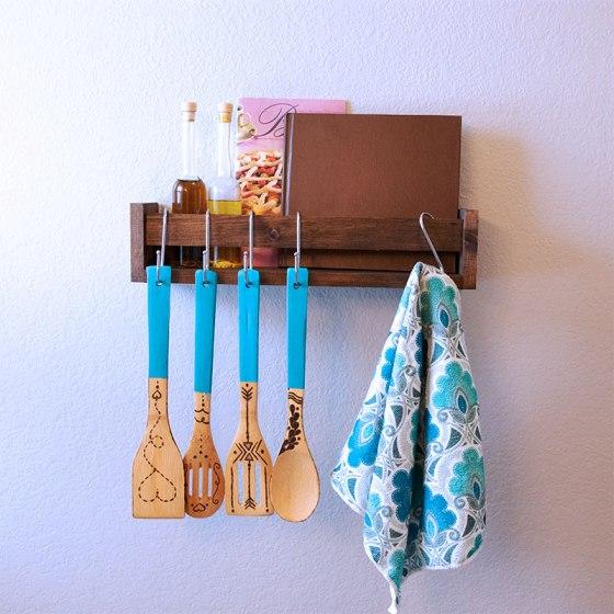 Display rack kitchen utensils