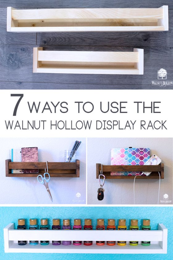 7 ways to get organized for the new year with the Walnut Hollow Display Rack