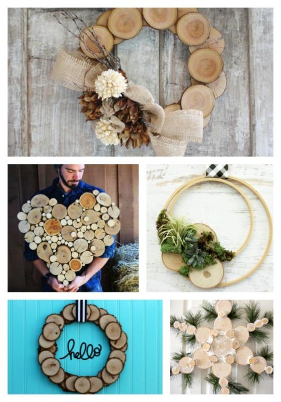 wood slice wreath ideas walnut hollow