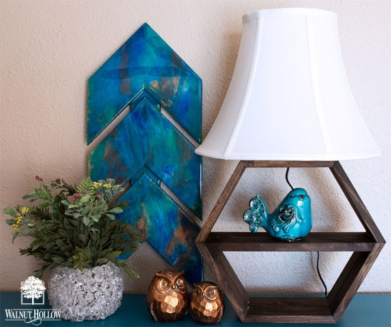 Hexagon Shelf Table Lamp