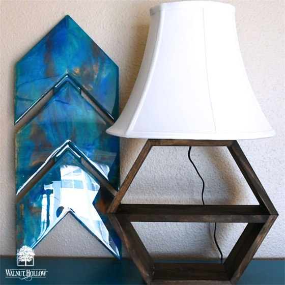 Add a lampshade to your lamp and turn it on!