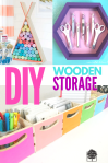 organizing ideas with wooden storage