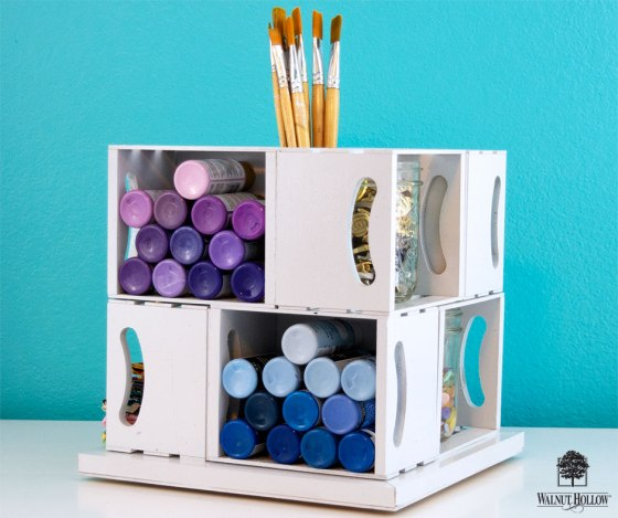 Rotating Craft Storage Cube