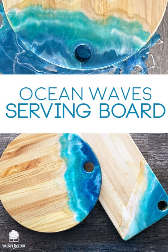 Create a beautiful Ocean Waves Serving Board