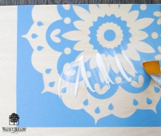 add a clear coat of sealant to avoid stencil bleeding
