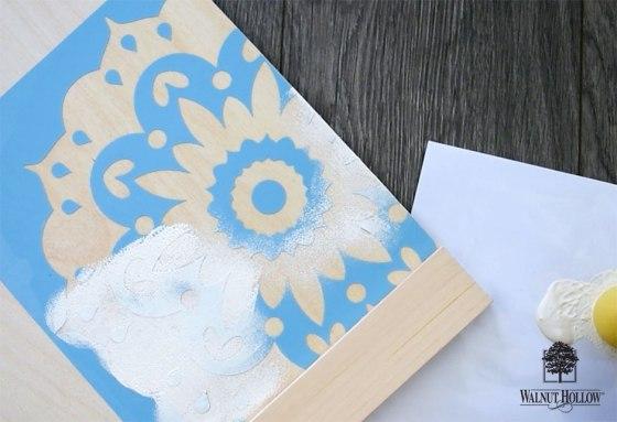 paint inside the stencil