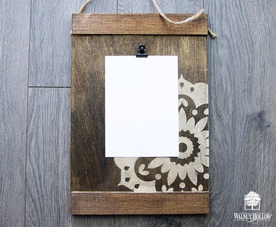 Hang a photo, notes or work of art on your new display board