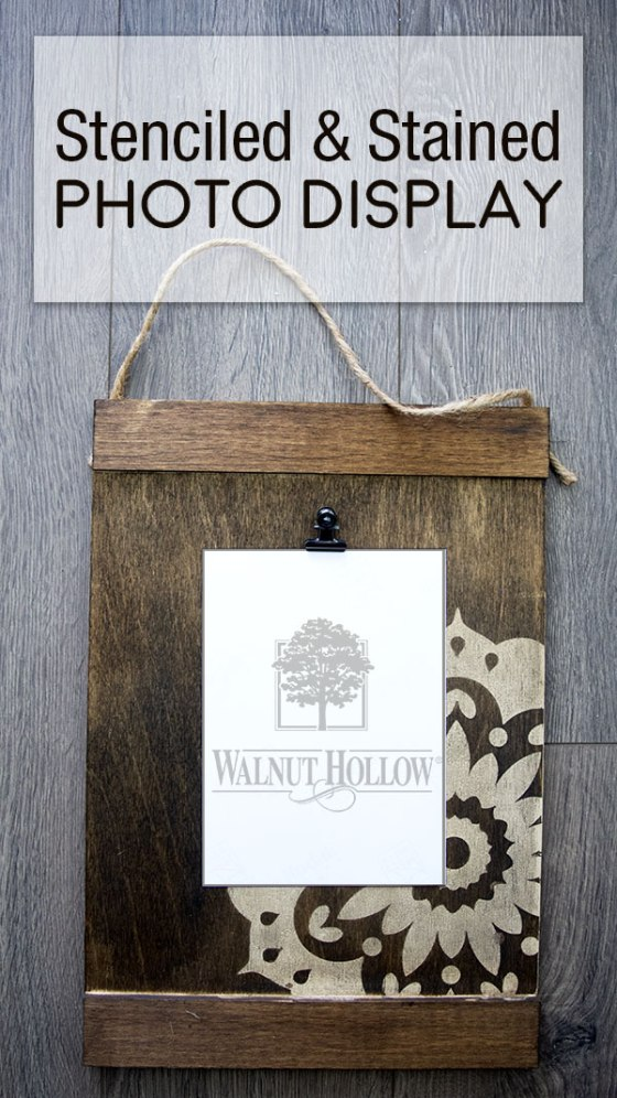 Stained and Stenciled Art Display Board