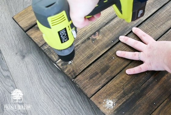 Drilling the holes for handle hardware