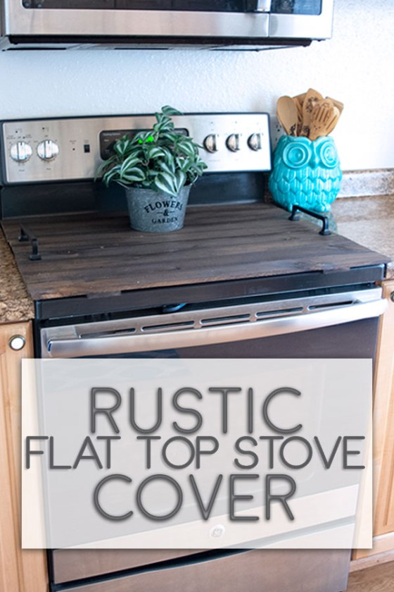 Create a cover tray for your flat top stove with no cutting or special tools required. #walnuthollow #farmhousedecor
