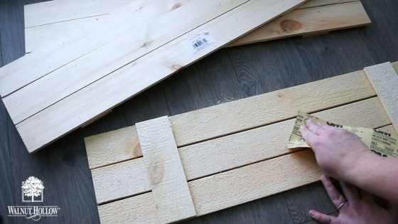 Sanding the Rustic Pallets