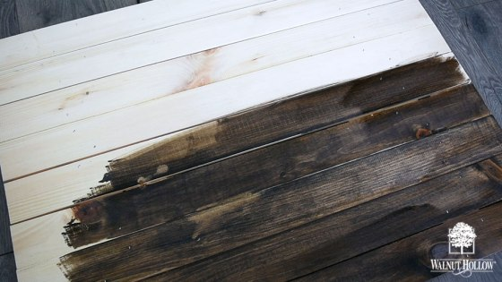 Stain the Rustic Pallets