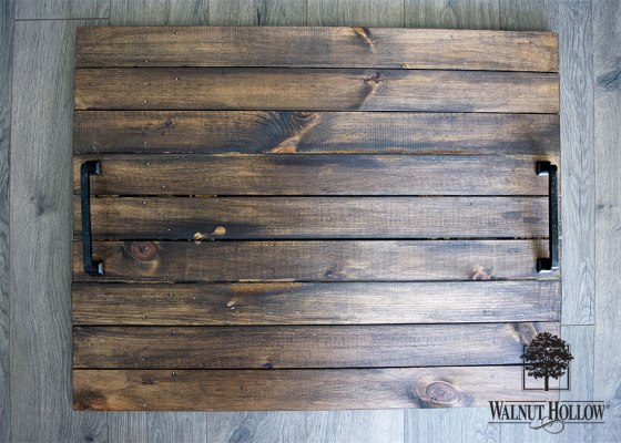 Rustic Pallet Stove Cover