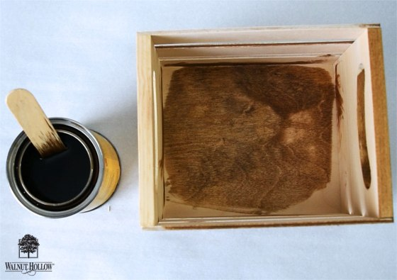 Stain or Paint the wood mini crate